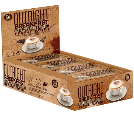 Outright Breakfast Bar Mochaccino White Chocolate - 12 Bars  ($24.99 w/coupon DPS10)