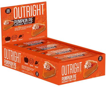 Outright Bar Pumpkin Peanut Butter - 12 Bars  ($24.99 w/coupon DPS10)