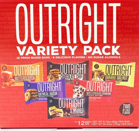 Outright Bar Variety Pack - 12 Bars ($24.99 w/coupon DPS10)