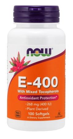 Now Foods Vitamin E 100% Natural 400 iu - 100 Softgels