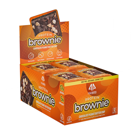 AP Prime Bites Protein Brownie Chocolate Peanut Butter Chip - 12 Pack