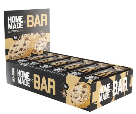 Axe & Sledge Home Made Bar  Peanut Butter Chocolate Chip - 12 Bars