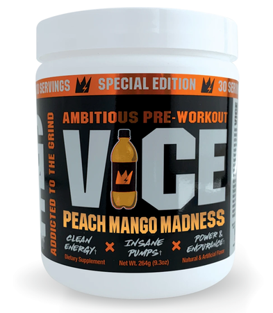 G Code VICE Preworkout Peach Mango Madness - 30 Servings