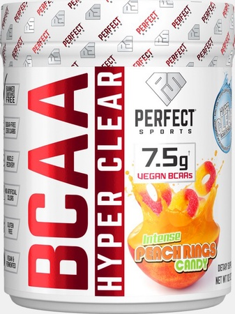 Perfect Sports BCAA Hyper Clear  Peach Rings - 30 Servings