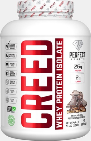 Perfect Sports Creed Whey Isolate  Triple Rich Dark Chocolate - 4.4 Lb