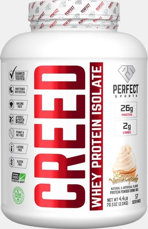 Perfect Sports Creed Whey Isolate  Vanilla Cupcake - 4.4 Lb