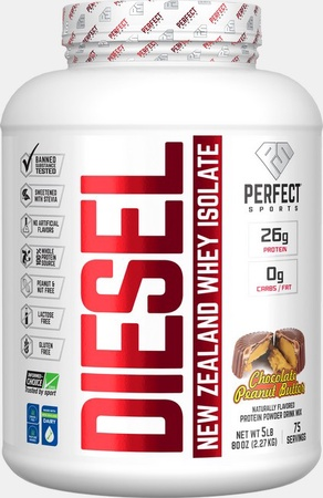 Perfect Sports DIESEL 100% New Zealand Whey Isolate  Chocolate Peanut Butter - 5 Lb