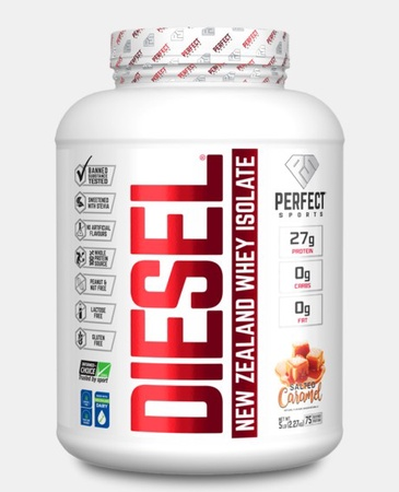 Perfect Sports DIESEL 100% New Zealand Whey Isolate  Salted Caramel - 5 Lb