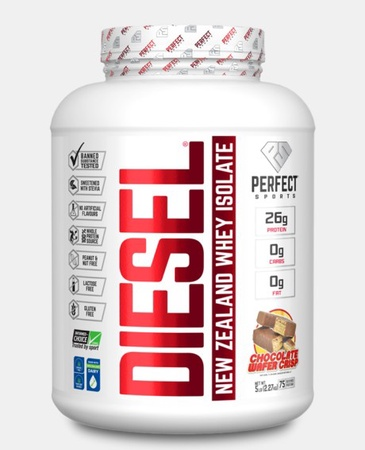 Perfect Sports DIESEL 100% New Zealand Whey Isolate  Chocolate Wafer Crisp - 5 Lb