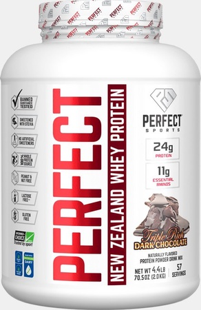 Perfect Sports Perfect New Zealand Whey Protein  Triple Rich Dark Chocolate - 4.4 Lb