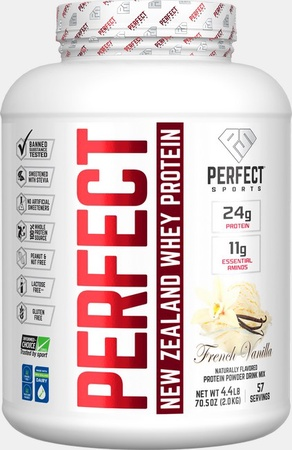 Perfect Sports Perfect New Zealand Whey Protein  French Vanilla - 4.4 Lb