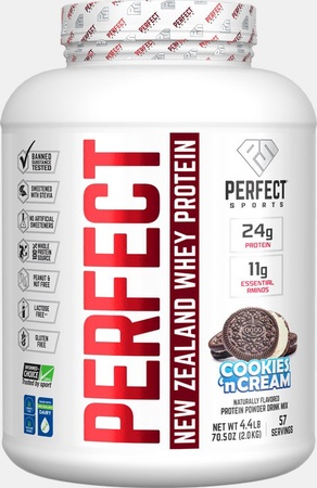Perfect Sports Perfect New Zealand Whey Protein  Cookies 'n Cream - 4.4 Lb