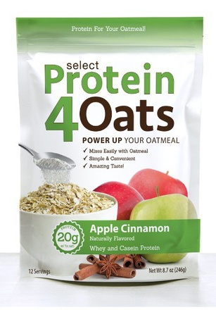 PES Select Protein 4 Oats Apple Cinnamon - 12 Servings