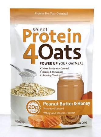 PES Select Protein 4 Oats Peanut Butter & Honey - 12 Servings