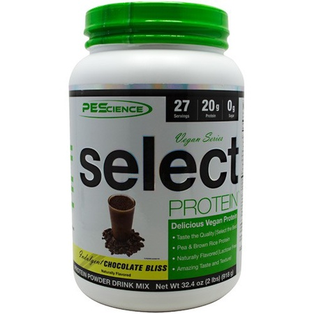 PES Select Vegan Protein Chocolate Bliss - 27 Servings