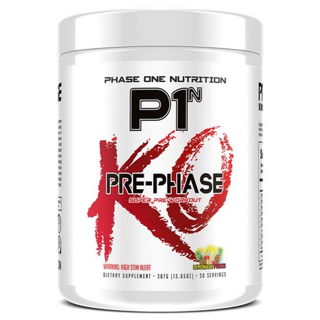 Phase One Nutrition Pre Phase KO Lemonade Punch - 30 Servings