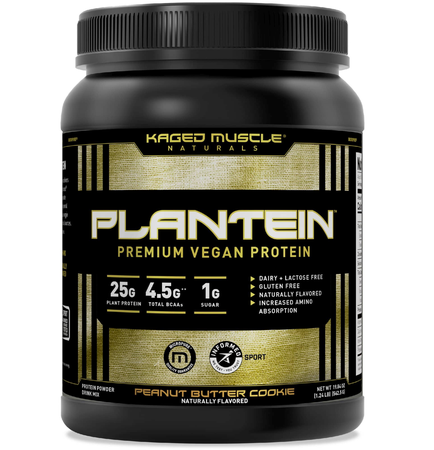 Kaged Muscle Plantein Vegan Protein  Peanut Butter Cookie - 15 Servings