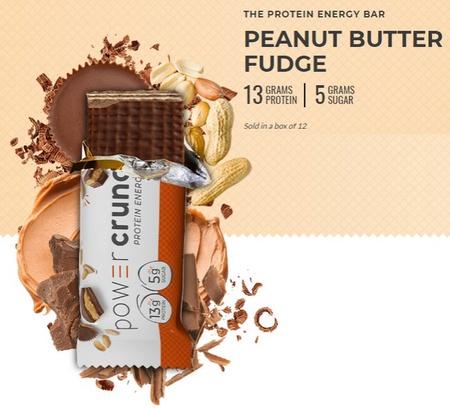 Power Crunch Bar Peanut Butter Fudge - 12 Bars