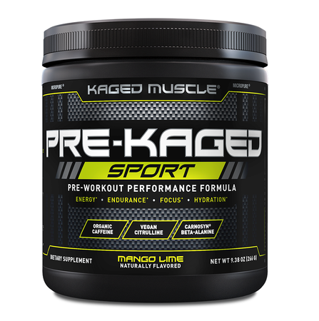 Kaged Muscle PRE-KAGED Sport  Mango Lime - 20 Servings