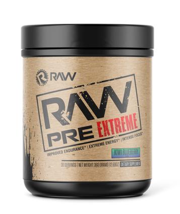 Raw Nutrition PRE Extreme Kiwi Strawberry - 30 Servings