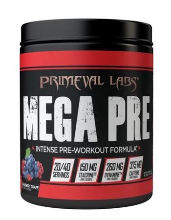 Primeval Labs Mega Pre BLACK Cranberry Grape - 40 Scoops