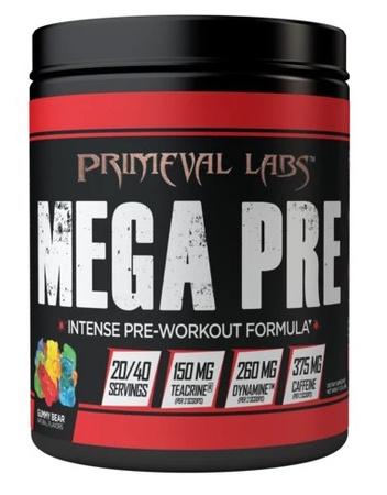 Primeval Labs Mega Pre BLACK Gummy Bear - 40 Scoops