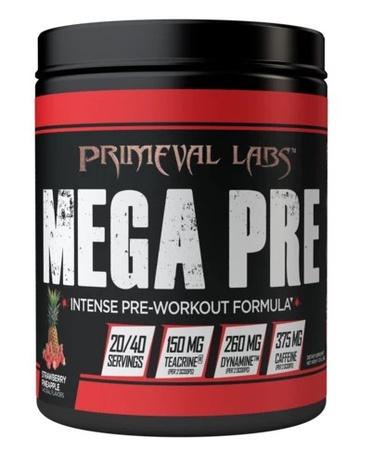 Primeval Labs Mega Pre BLACK Strawberry Pineapple - 40 Scoops