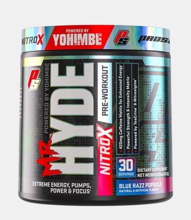 Pro Supps Mr. Hyde NitroX Blue Razz Popsicle - 30 Servings