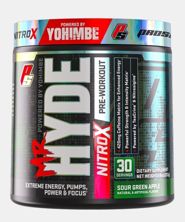 Pro Supps Mr. Hyde NitroX Sour Green Apple - 30 Servings
