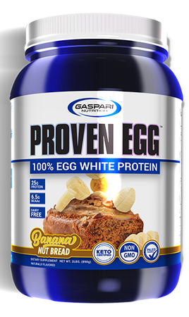 Gaspari Nutrition Proven EGG 100% Egg White Protein Banana Nut Bread - 2 Lb