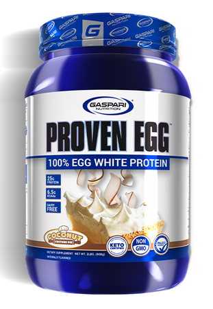 Gaspari Nutrition Proven EGG 100% Egg White Protein Coconut Custard Pie - 2 Lb