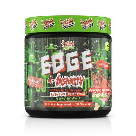 Psycho Pharma Edge of Insanity Pre Workout  Strawberry Watermelon - 30 Servings