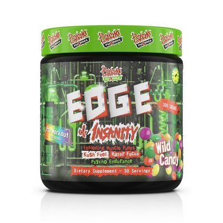 Psycho Pharma Edge of Insanity Pre Workout  Wild Candy - 30 Servings