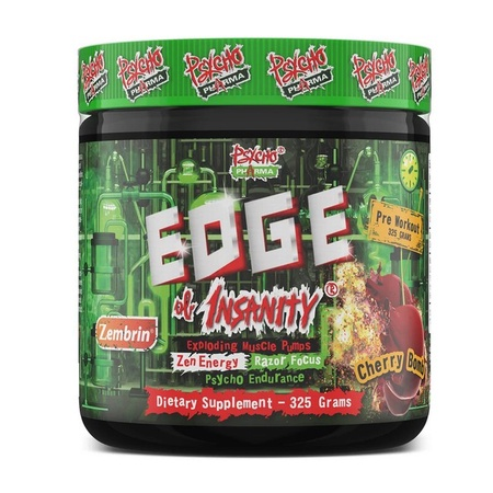 Psycho Pharma Edge of Insanity Pre Workout  Cherry Bomb - 25 Servings