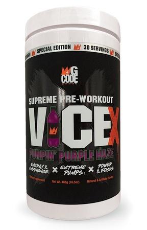 GCode Nutrition Vice X Pre Workout  Purple Haze - 30 Servings