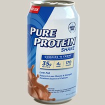 Pure Protein RTD Shake Cookies 'n Creme - 12 Cans