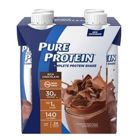 Pure Protein Protein Shake 30g  Chocolate - 4 Pack ($7.99 w/DPS10 coupon code)