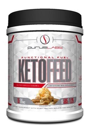 Purus Labs KetoFeed Protein Salted Vanilla Caramel - 15 Servings