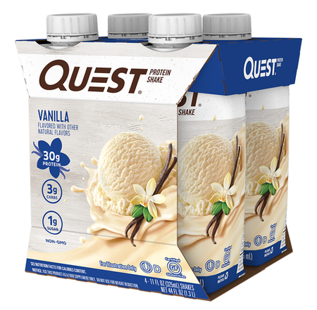 Quest Protein Shakes 30g Vanilla - 4 Pack