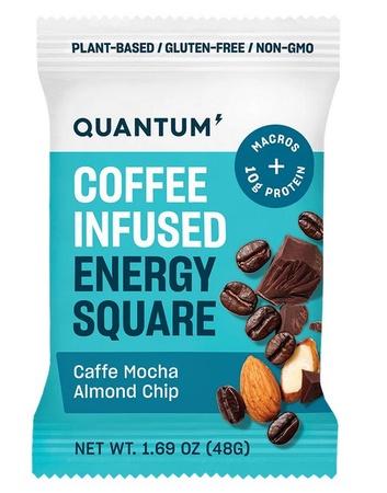 Quantum Energy Squares Caffe Mocha Almond Chip - 10 Squares *Expired 12/20