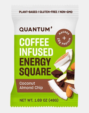 Quantum Energy Squares Coconut Almond Chip - 10 Squares *Expiration 12/20