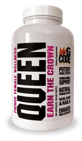GCode Nutrition QUEEN Fierce Female Wellness - 180 Cap (30 Sevings)
