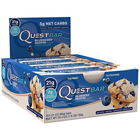 Quest Bar Blueberry Muffin - 12 Bars