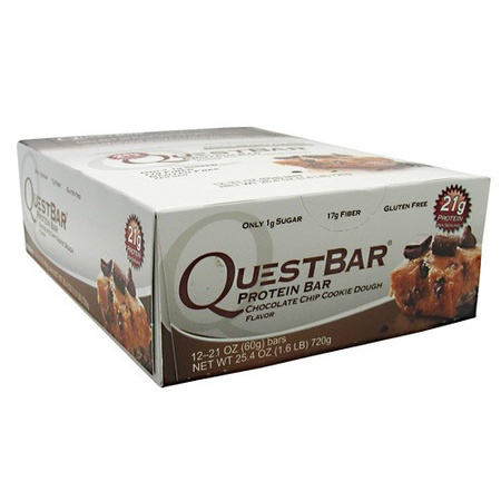 Quest Bar Chocolate Chip Cookie Dough - 12 Bars
