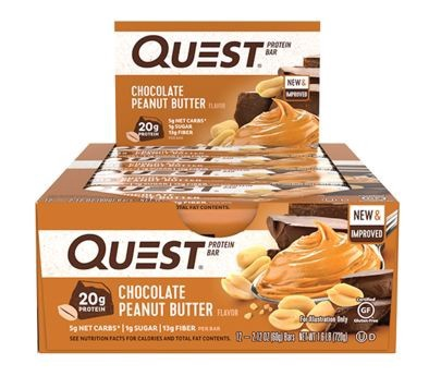 Quest Bar Chocolate Peanut Butter - 12 Bars