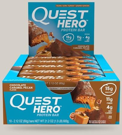 Quest Hero Bar Chocolate Caramel Pecan - 10 Bars