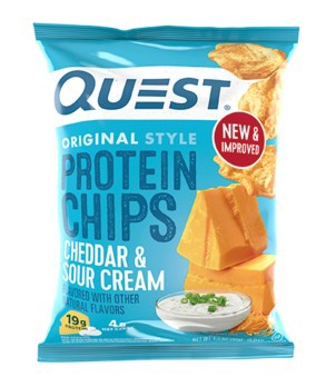 Quest Protein Chips - Cheddar & Sour Cream - 8 Bags