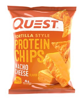 Quest Protein Chips  Tortilla Style - Nacho Cheese - 8 Bags
