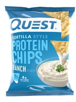 Quest Protein Chips  Tortilla Style - Ranch - 8 Bags