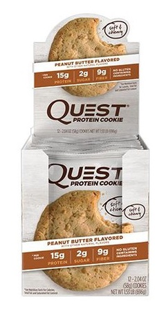 Quest Protein Cookies Peanut Butter - 12 Cookies